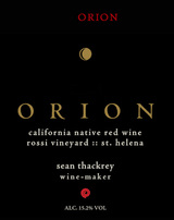 Sean Thackrey Orion 2012