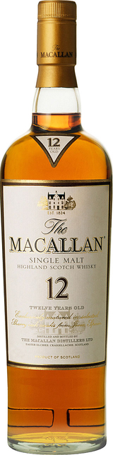Macallan Single Highland Malt Scotch Whisky Sherry Oak Cask 12 year old