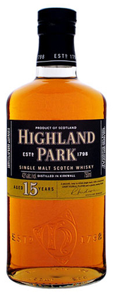 Highland Park Single Malt Scotch Whisky 15 year old