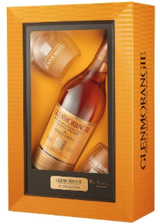 Glenmorangie Single Highland Malt Scotch Whisky with 2 Tumblers Gift Set 10 year old