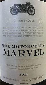 Nederburg Heritage Heros The Motorcycle Marvel 2011