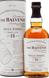 Balvenie Single Barrel Single Malt Sherry Cask Scotch Whisky 15 year old