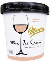 Mercer's Wine Ice Cream Strawberry Sparkling Ice Cream