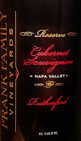 Frank Family Rutherford Reserve Cabernet Sauvignon 2013