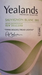 Yealands Premium Selection Sauvignon Blanc 2014