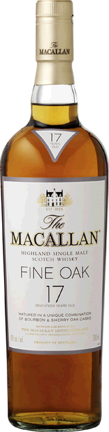 Macallan Fine Oak Single Malt Scotch Whisky 17 year old