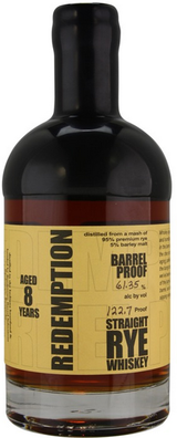 Redemption Barrel Proof Straight Rye Whiskey 8 year old