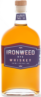 The Albany Distilling Company Ironweed Rye Whiskey