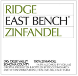 Ridge Vineyards East Bench Zinfandel 2014