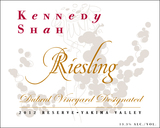 The Woodhouse Wine Estates Kennedy Shah Dubrul Vineyard Riesling 2012