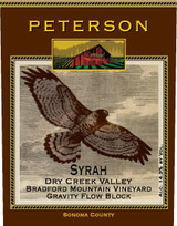 Peterson Winery Bradford Mountain Vineyard Syrah 2009