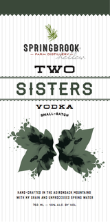 Springbrook Hollow Farm Distillery Two Sisters Vodka