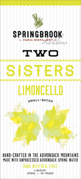 Springbrook Hollow Farm Distillery Two Sisters Limoncello