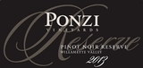 Ponzi Vineyards Reserve Pinot Noir 2013