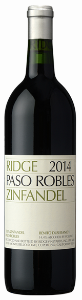 Ridge Vineyards Paso Robles Zinfandel 2014