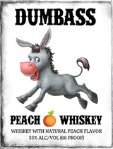 Dumbass Whiskey Company Peach Whiskey