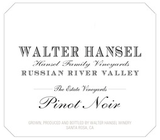 Walter Hansel Estate Pinot Noir 2013