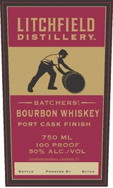 Litchfield Distillery Batchers' Port Cask Finish Bourbon Whiskey