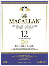 Macallan Single Malt Scotch Whisky Double Cask 12 year old