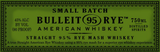 Bulleit 95 Rye Small Batch Rye Whiskey NV