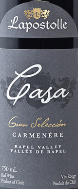 Lapostolle Casa Grand Selection Carmenere 2013