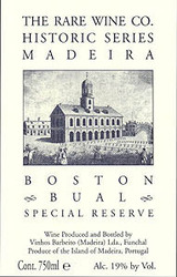 Rare Wine Company Historic Series Madeira Boston Bual Special Reserve