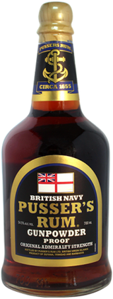 Pusser's Black Label Gunpowder Proof Rum