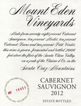 Mount Eden Vineyards Estate Cabernet Sauvignon 2012