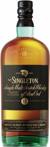 Singleton The Singleton of Glen Ord Single Malt Scotch Whisky 18 year old