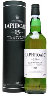 Laphroaig Islay Single Malt Scotch Whisky 15 year old