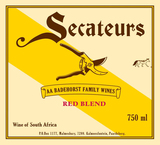 AA Badenhorst Family Wines  Secateurs Red Blend 2015