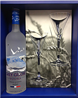Grey Goose Gift Set With 2 Glasses