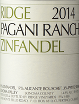 Ridge Vineyards Pagani Ranch Zinfandel 2014