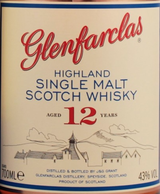 Glenfarclas Single Highland Malt Scotch Whisky 12 year old
