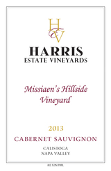 Harris Estate Missiaen's Hillside Vineyard Cabernet Sauvignon 2013