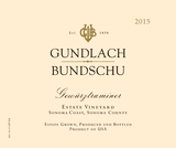 Gundlach Bundschu Estate Vineyard Gewürztraminer 2015