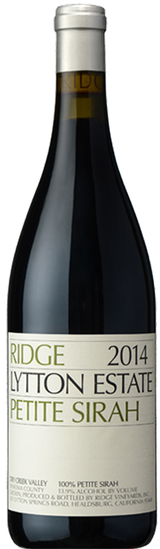 Ridge Vineyards Lytton Estate Petite Sirah 2014
