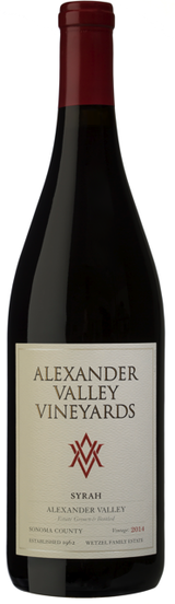 Alexander Valley Vineyards Estate Syrah 2014