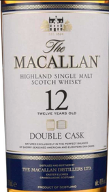 Macallan Double Cask Highland Single Malt Scotch Whisky 12 year old