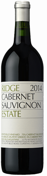 Ridge Vineyards Estate Cabernet Sauvignon 2014