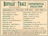 Buffalo Trace Experimental Collection Old Fashioned Sour Mash Entry Proof 125 NV