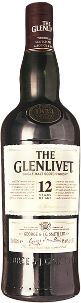 The Glenlivet Single Malt Scotch Whisky 12 year old