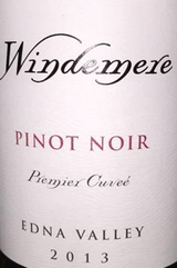Windemere Winery Premier Cuvee Pinot Noir 2013