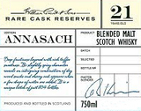 William Grant & Sons Annasach Blended Malt Scotch Whiskey 21 year old