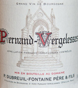 Domaine Dubreuil Fontaine Pernand Vergelesses Blanc 2015