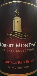 Robert Mondavi Private Selection Heritage Red Blend 2015