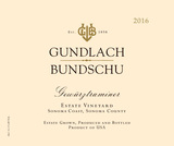 Gundlach Bundschu Estate Vineyard Gewürztraminer 2016