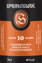 Springbank Campbeltown Single Malt Scotch Whisky 10 year old
