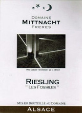 Domaine Mittnacht Freres Riesling Les Fossiles 2016