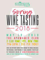 Rye Brook Wine & Spirit Shop Spring 2018 Wine Tasting at Apawamis